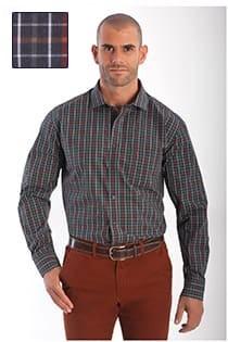Casamoda ruiten overhemd lange mouw