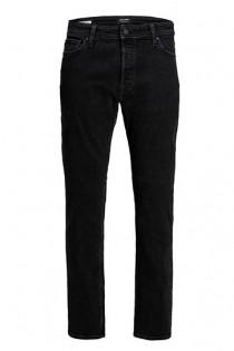 5-pocket elastische black denim broek van Jack & Jones