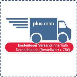 Kostenloser DE-Versand bei Plusman.de