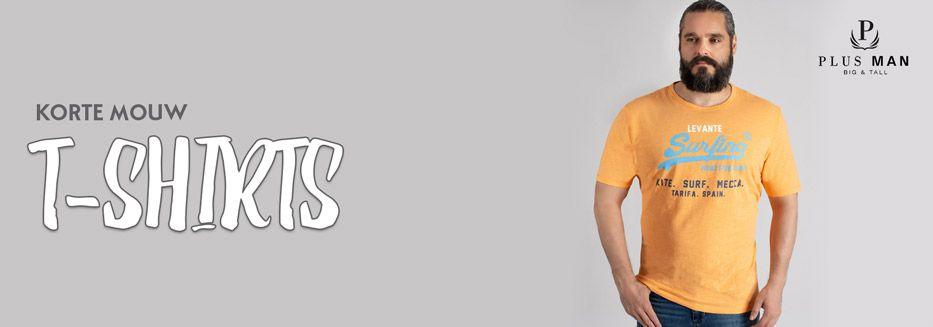 Korte mouw t-shirts in grote maten