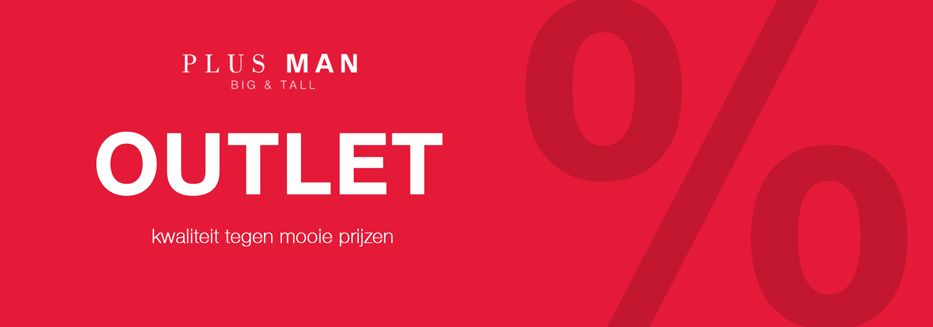 Plusman Outlet - grote maten herenkleding met korting