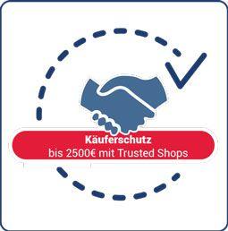Käuferschutz bis 2500€ mit Trusted Shops